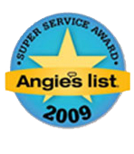 Angies list Super Service Award 2009
