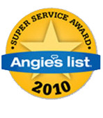 Angies list Super Service Award 2010