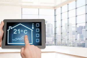 ipad app for a smart home thermostat