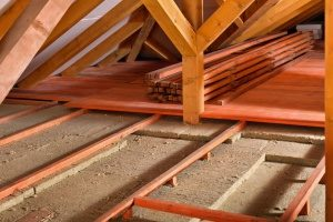 attic of a home that is not fully insulated and affecting the home air conditioning system