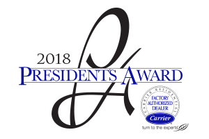 Presidential Heat and Air Receives Carrier Award