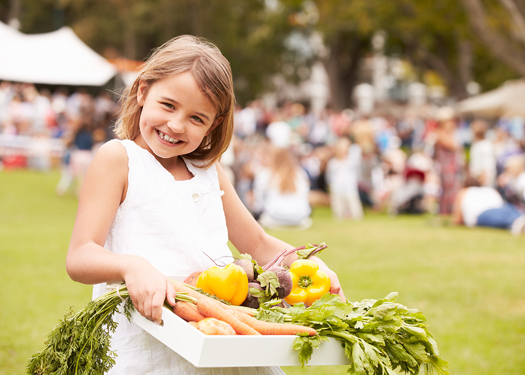 photo of girl at farmers market