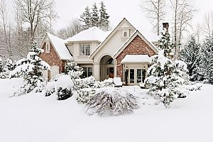 snow covering a house that is in need of a humidistat