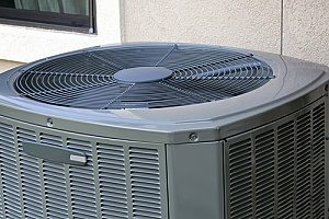 an AC unit that is running thanks to the help of a professional Maryland HVAC contractor