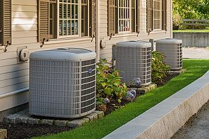 an outdoor AC unit that needs service repairs from an HVAC contractor