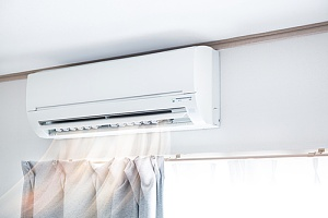 central air conditioner cooling a room