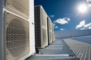 HVAC Outside in the Sun