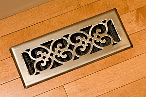 a floor vent as part of a hydronic radiant floor heating system