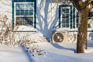 home in a cold climate that needs a heat pump rather than central air conditioner