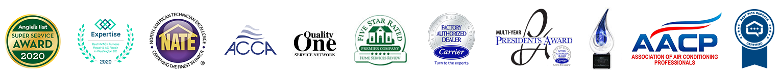 logos of awards won by Presidential Heating & Air Conditioning
