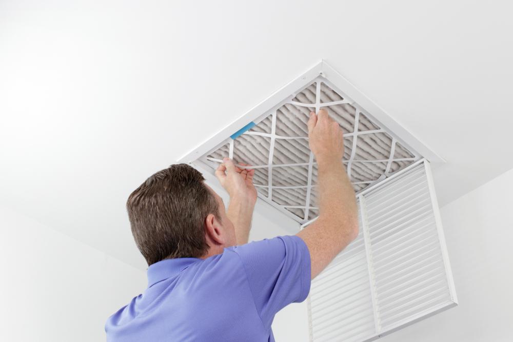 spring HVAC prep inspection filter